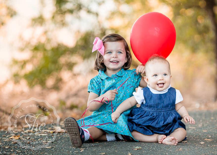 Lafayette Reservoir kids w balloon photo