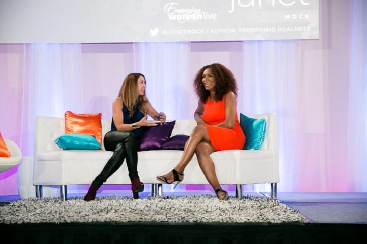 Chantal Pierrat in conversation with Janet Mock at Emerging Wome
