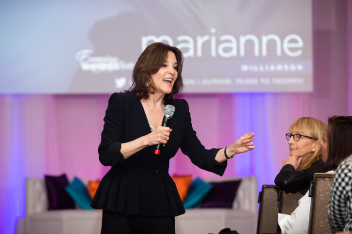Emerging Women Live 2016 - On stage with presenter Marianne Will
