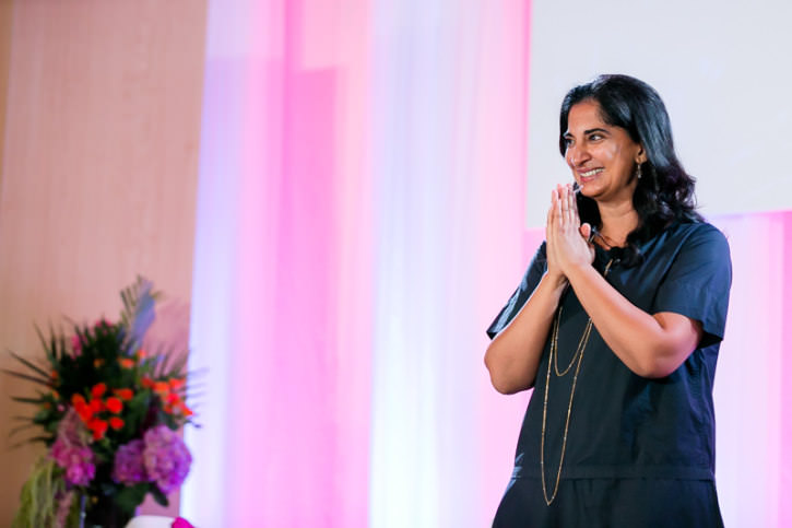 Mallika Chopra speaking at Emerging Women Live 2016