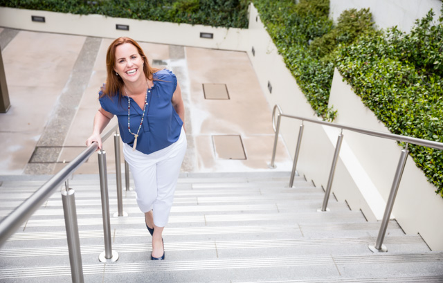 Leigh Miller on Steps