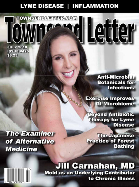 Dr. Jill Carnahan Townsend Letter Magazine cover professional photography with SHE Photography in Bend